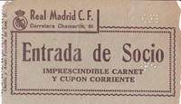 Entrada de socio del Real Madrid